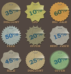 Vintage sale stickers and labels vector