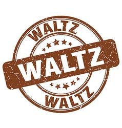 waltz brown grunge round vintage rubber stamp vector image