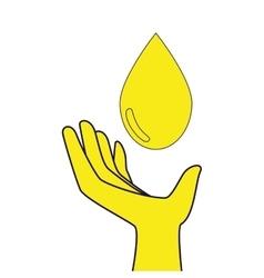 water drop saving icon vector image