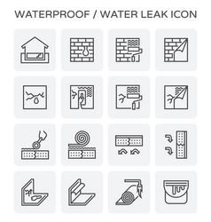 Waterproof water leak icon vector