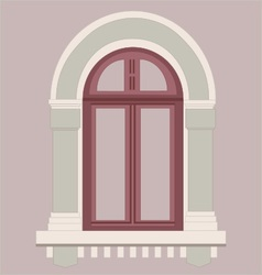 Window old style in red vector