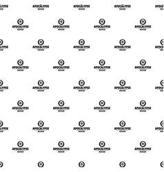 zombie terror pattern seamless vector image