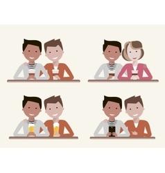 Best Friends Set vector image