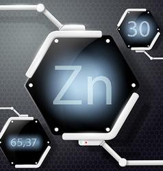chemical element zinc vector image