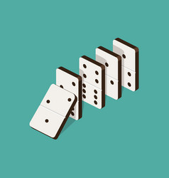 domino effect isometric vector image vector image