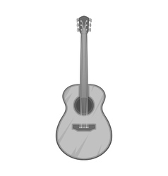 Guitar icon black monochrome style vector image vector image