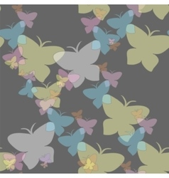 Hovering butterflies seamless pattern vector image