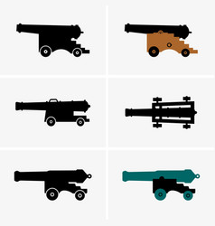 old cannons vector image