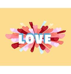 Romance heart spray LOVE greeting card or vector image
