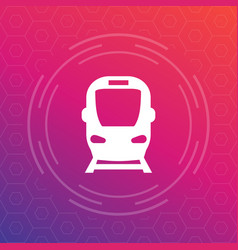 subway icon sign vector image vector image