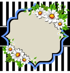 white daisy flowers frame with vector image vector image