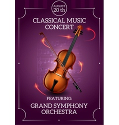 Classic Music Poster vector image
