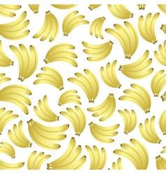 colorful yellow bananas fruits seamless pattern vector image vector image