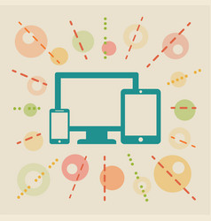 devices concept vector image vector image