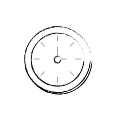 figure round wall clock object to know the time vector image