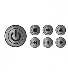 player icons metal buttons vector image