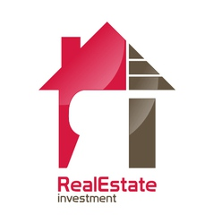 Realestate investment logo vector image