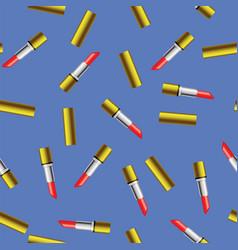 Red lipstick seamless pattern vector