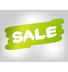Sale on green brush style stain isolated on gray vector image vector image