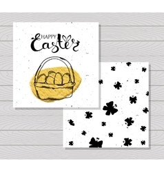 Colorful printable cards for celebrating Easter vector image
