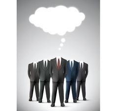 Headless business men vector image vector image