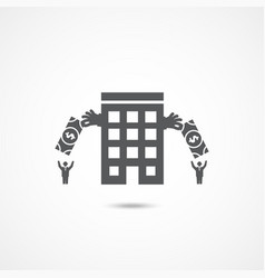investment company icon vector image vector image
