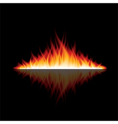 object fire reflection vector image