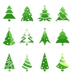 pine tree for Christmas vector image