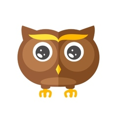 Cute little flat Owl vector image