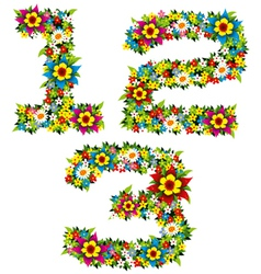 flower and bush letters 11 vector image