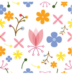 flower nature design seamless pattern background vector image