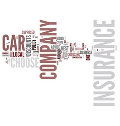 great car insurance company how is a person to vector image vector image