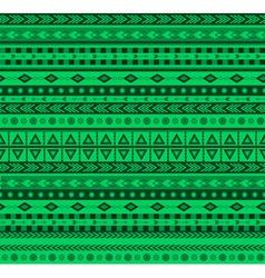 green aztec pattern vector image vector image
