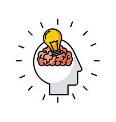 head brain bulb vector image