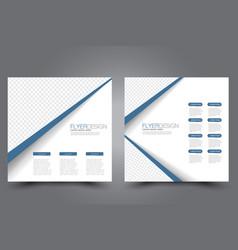 square flyer template brochure design vector image