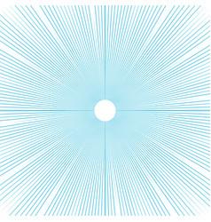 Sunburst background thin blue radial lines vector