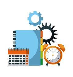 time business clock alert calendar address book vector image