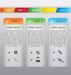 Web Boxes Template and Header Menu vector image vector image