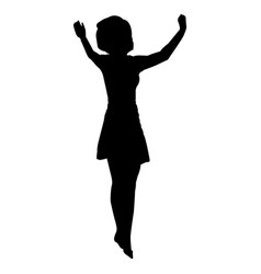 woman silhouette black on white background vector image