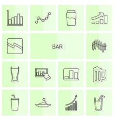 14 bar icons vector