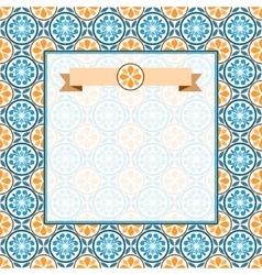 Abstract pattern with vintage ornament vector