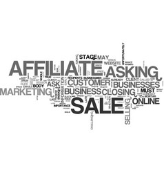 Affiliates should ask for the sale text word vector