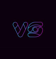 alphabet letter combination vs v s logo company vector image