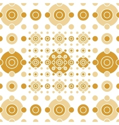 Beige and gold circles and squares vector image
