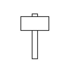 Big hammer icon vector