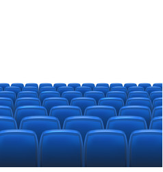 Blue seats with screen vector