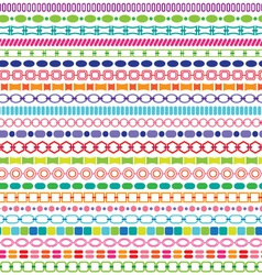 border patterns vector image