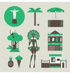Brazillian icons vector image