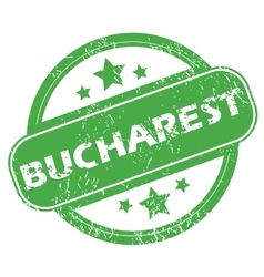Bucharest green stamp vector