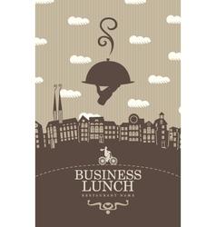 Business lunch menu vector